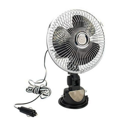 All Ride 12 V 6 Inch Car Fan with Strong Suction Cup