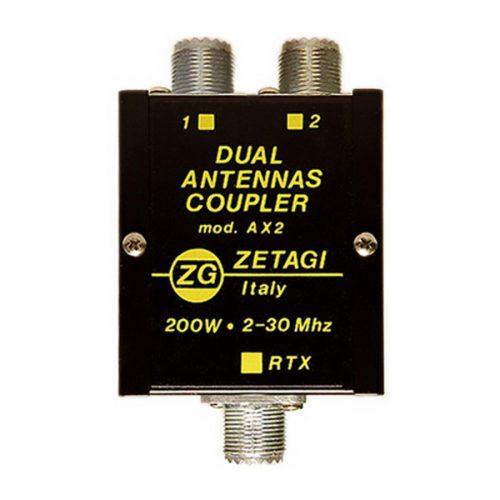 Zetagi AGI AX2 Dual Antenna Coupler 2 – 30 MHz, 200 W