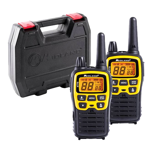 Midland XT70 Adventure Edition PMR446 Twin Pack Transceivers