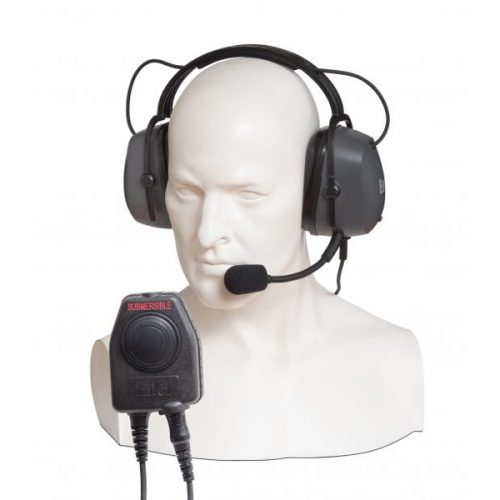 Entel CHP450D/DX Double Ear-cup Defender with Large PTT / Comfort Headband