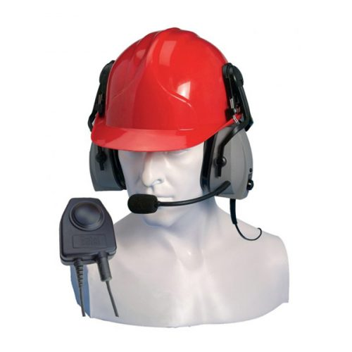 Entel CHP450HD/DX Double Ear-cup Defender with Large PTT