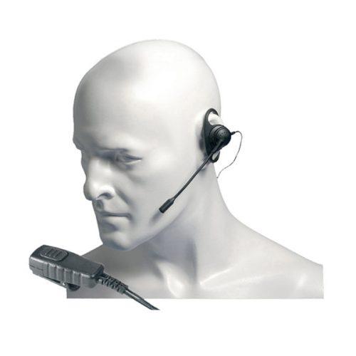 Entel EA19/DX D-shaped Earpiece with Boom Microphone / In-Line PTT